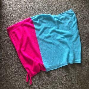 Lilly Pulitzer blue and pink shawl